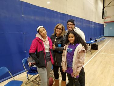 Annie with mom, dad and sister, The Jacksons. Ameet Jackson. Wesley Jackson. Elena Jackson. love yall back thank you!!