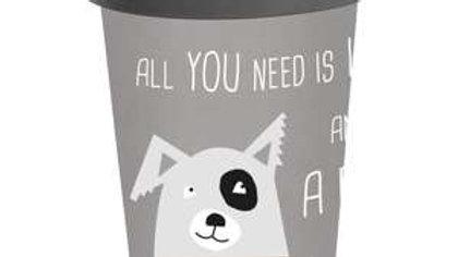 Travel Mug Bamboo Love and Dog