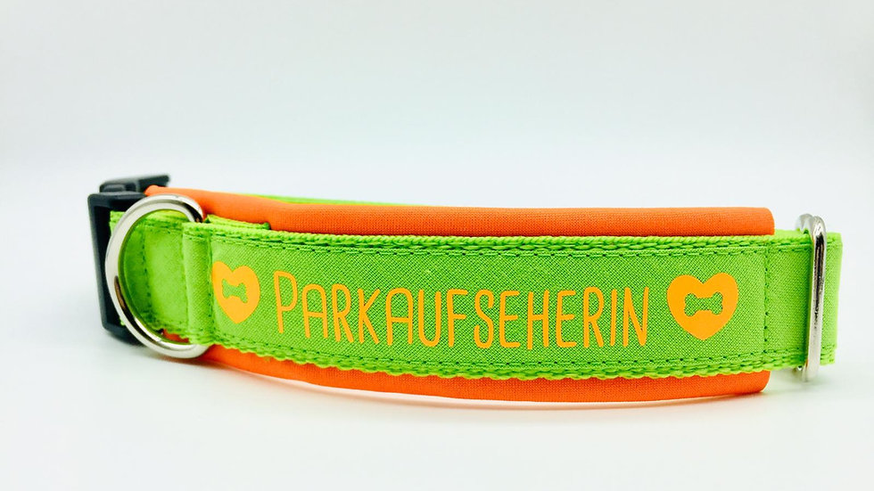 Hundehalsband 'Parkaufseherin'