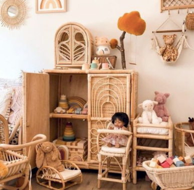 Rattan inspiration - for creating the most beautiful playrooms and nurseries