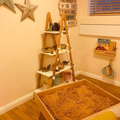 Wooden sand pit