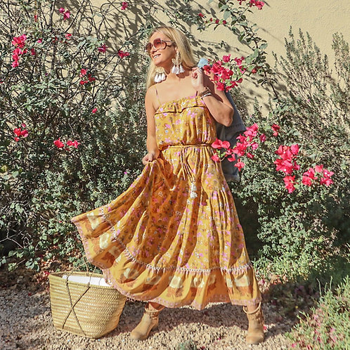 The 4 Seasons Dress - Mustard