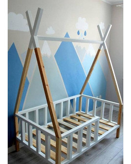 TeePee bed frame with rails