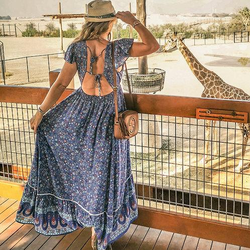 The Ali Ain Animal Blue Dress