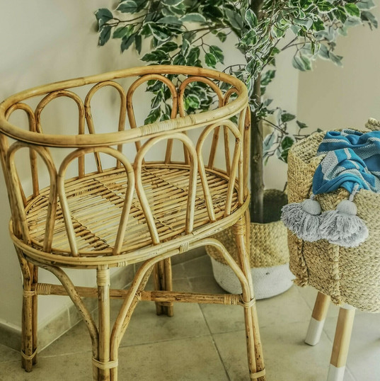 Rattan Cot and Stand