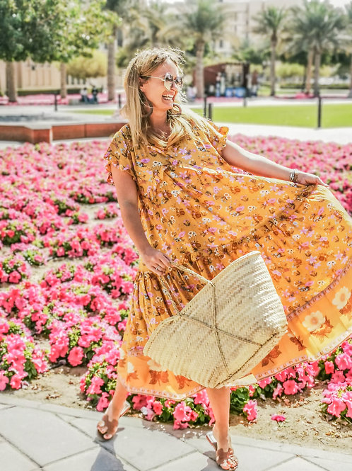 The Old Town Dress - Mustard