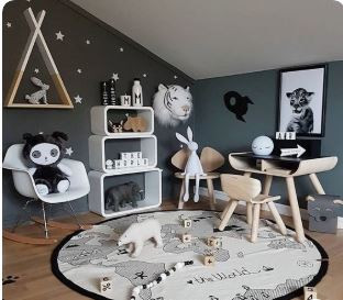 Inspiring Black and White Playrooms