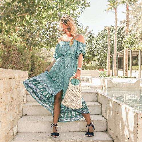 The Paradise Beach Club Dress - Blue