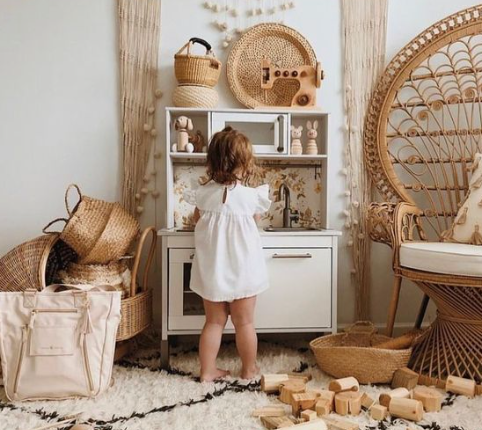 Natural Boho Style Bedrooms for toddlers