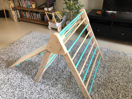 Mint Green Coloured Climbing Frame