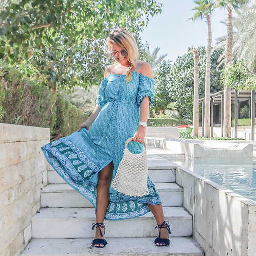 The Paradise Beach Club Dress - Blue