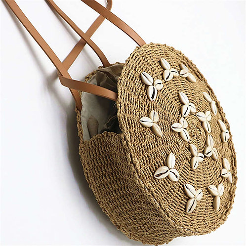 Round Straw Shell Should Bag