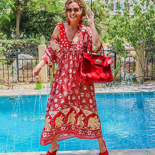 The Retro: Red Floral Dress