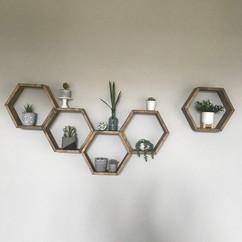 Hexagon design shelves
