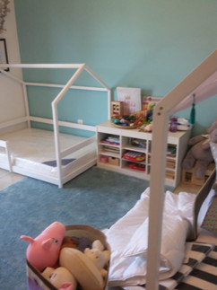 Simple house bed frame