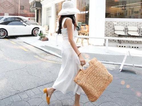 Oversized Straw Street Bag