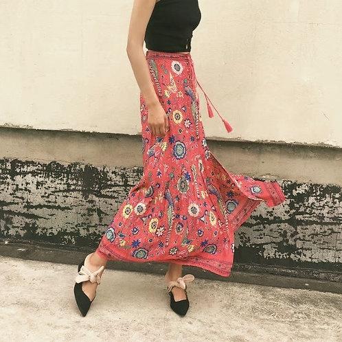 The Lovebird  Skirt - Red