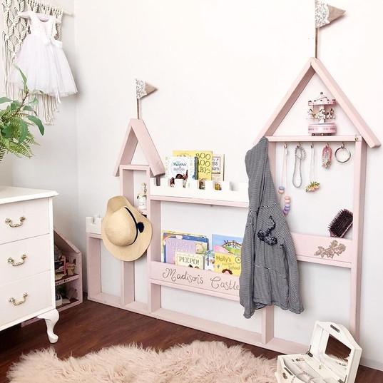 Princess Castel Wall Book and Storage Shelf