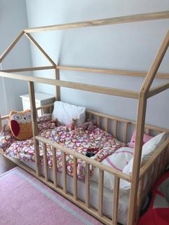 House bed kept natural