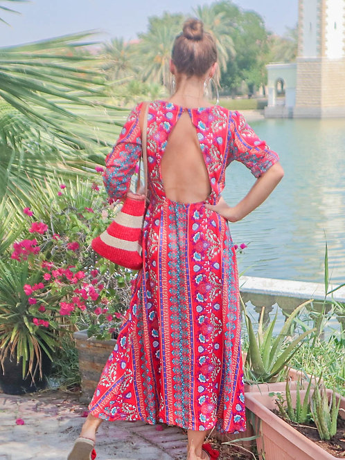 The Grovener - Red Backless Dress