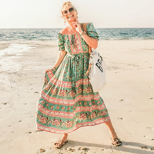 They Gypsy Dress - Green