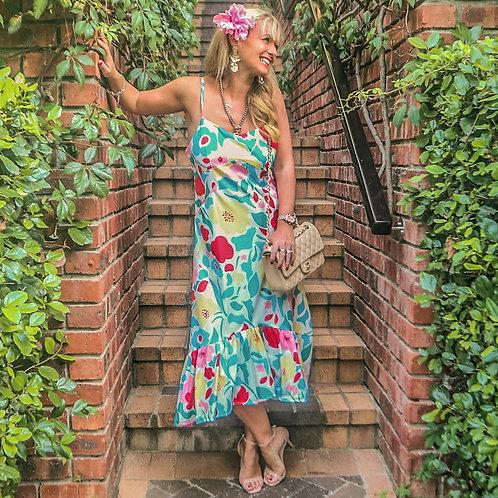 The QE2: Floral Print Dress