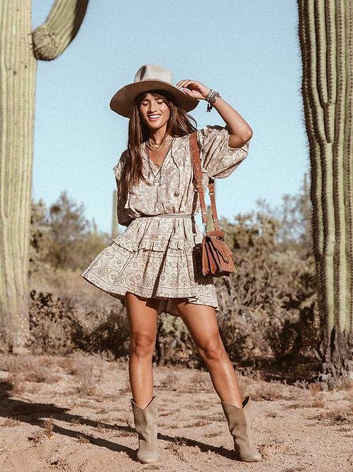 The Desert Dream Dress: Nude Print Dress