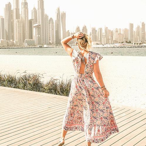 The Ali Ain Animal Pink Dress