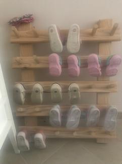 Montessori shoe storage