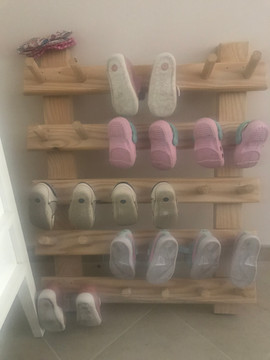 Montessori shoe storage