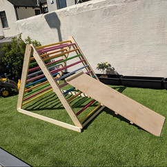 Extra large Pikler triangle climbing frame with slide