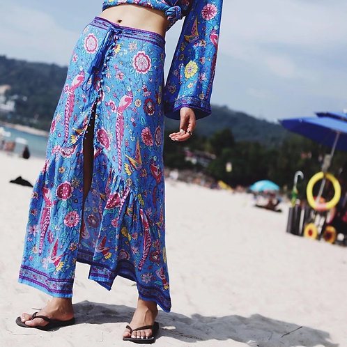 The Lovebird Skirt - Blue