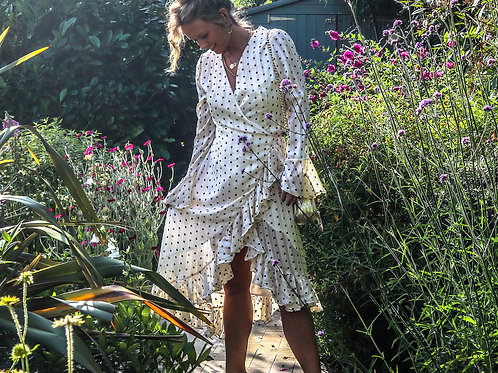 The Cliff Top: Polka Dot Wrap Dress