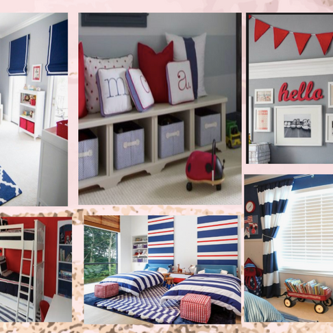 Client Consultation: Boys Room Inspiration - Blue & Red