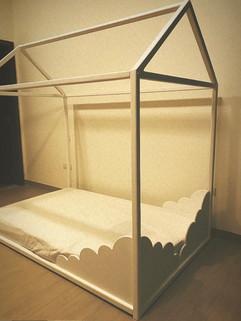 Cloud design double bed