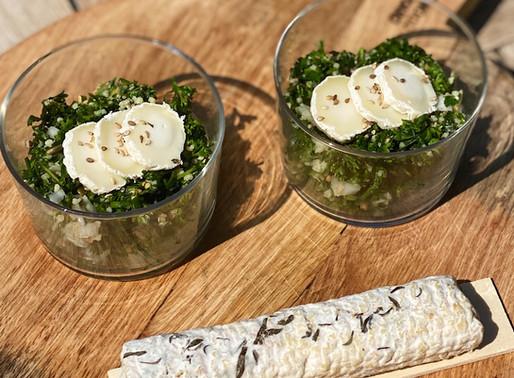 Salade d'herbes à la bûchette de Manon