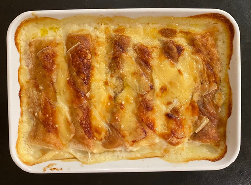 Gratin de crêpes jambon fromage