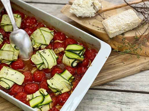 Courgettes farcies au Lingot St Nicolas et tomates rôties