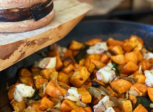 Patate douce rôtie à la sauge et Moelleux du Revard