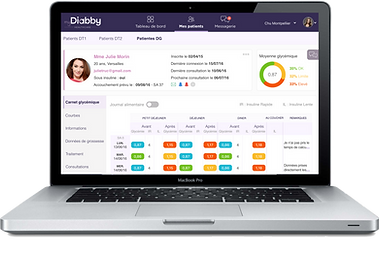 myDiabby logiciel télémédcine diabète professionnels de santé
