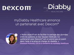 MyDiabby collabore avec Dexcom® pour faciliter le partage des données des patients à leurs médecins