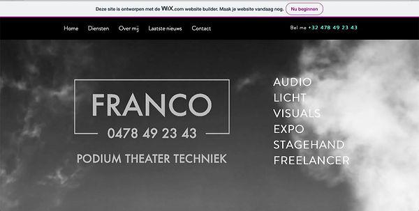 Franco podium theater techniek