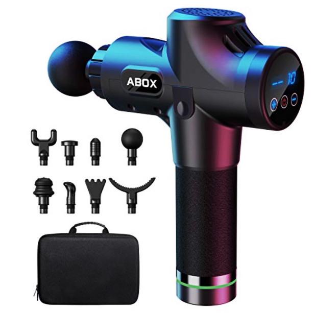 ABOX Hand-Held Muscle Massage Gun.