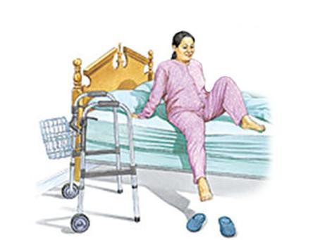 Recuperación de una operación de prótesis de cadera.