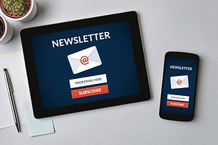 Subscribe newsletter concept on tablet a