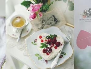 Herzliche Ideen zum Valentinstag ... Blütenkuchen, Focaccia und Rapunzel Salat