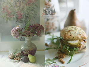Veggie Champingion Burger mit Birne & Ruccola