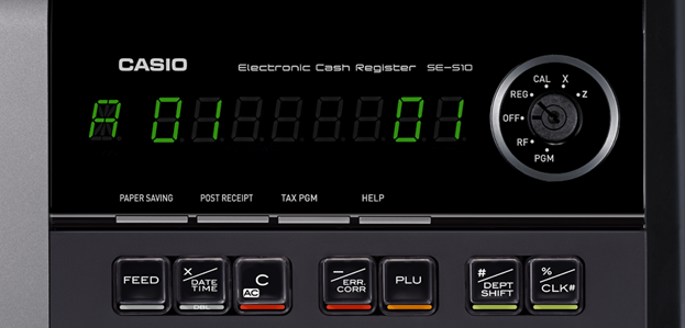 Casio SE-S10 Display