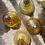 Thumbnail: Flacons et boîte en verre ocre