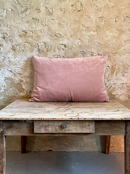Grand coussin NAMASTE rose poudré